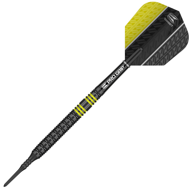 Target Darts Vapor8 Black/Yellow 80% Tungsten 19 grams