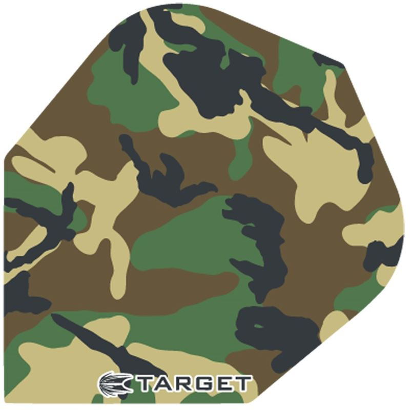 Target Darts Camo Green and Brown - Pro 100 Flight Standard