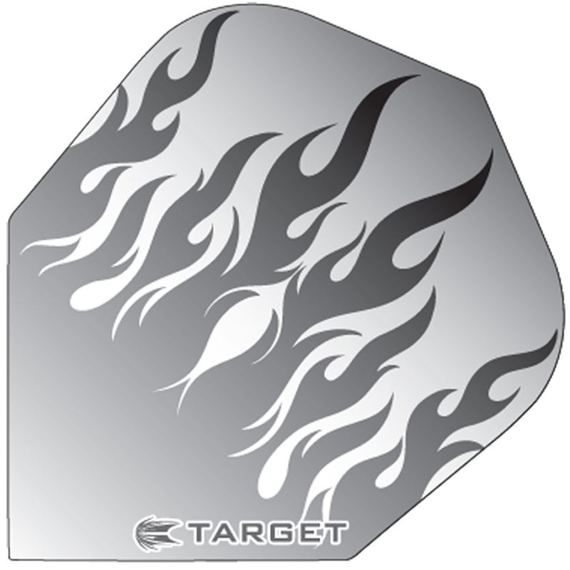 Target Darts Grey Flames - Pro 100 Flight Standard