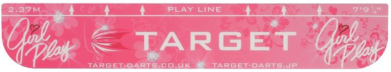 Target Darts Pink Girl Play Throwline