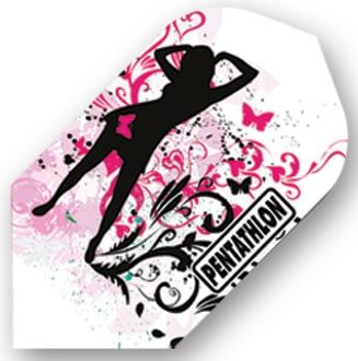 Dart World Pentathlon - Girl with Pink Butterflies Slim