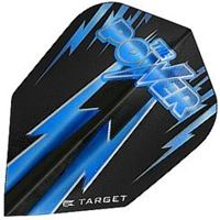 Target Darts Black with Double Blue Lightning Bolt Power - Vision Edge  Shape