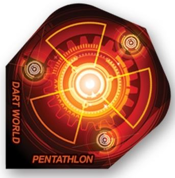 Dart World Pentathlon - Red and Yellow Computer Fan Standard