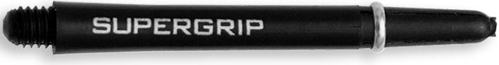 Dart World Supergrip Shafts Black with Sliver Ring - Medium