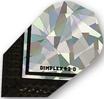 Dart World 2D Glitter Dimplex Black & Silver Slim