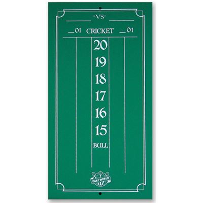 Dart World Mini Scoreboard  chalk
