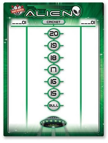 Dart World Alien Medium Scoreboard dry erase
