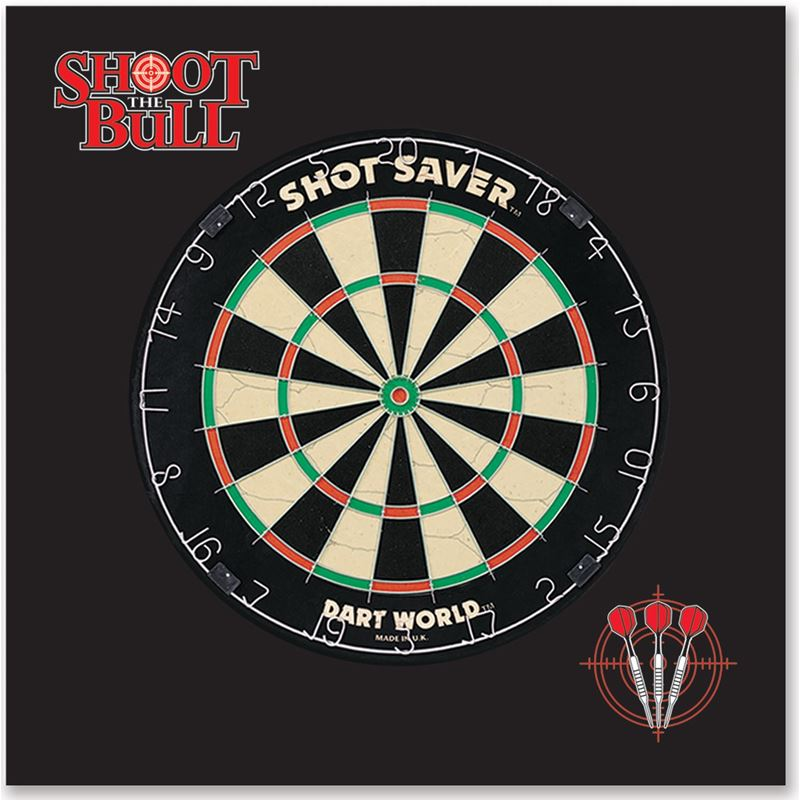 Dart World Shoot the Bull Wall Protector