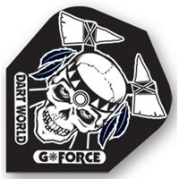 Dart World G-Force - Black with White Skull Clear Standard