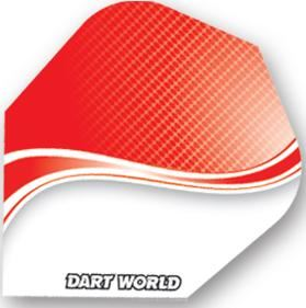 Dart World Poly - Red & White Swirl  Standard
