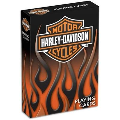 Dart World Harley Davidson® Flame Playing Cards
