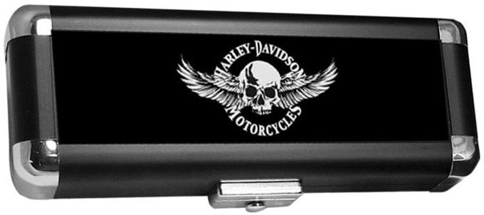 Dart World Harley Davidson® Skull with Wings Dart Case