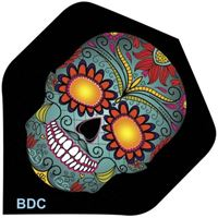 Bottelsen Blue Sugar Skull Tattoo Flight Standard